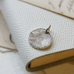 Individual Inked Fingerprint Charm - new in jewellery
