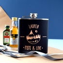 Personalised Piste And Love Skiing Hip Flask