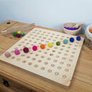 100 Dots Wooden Counting Board