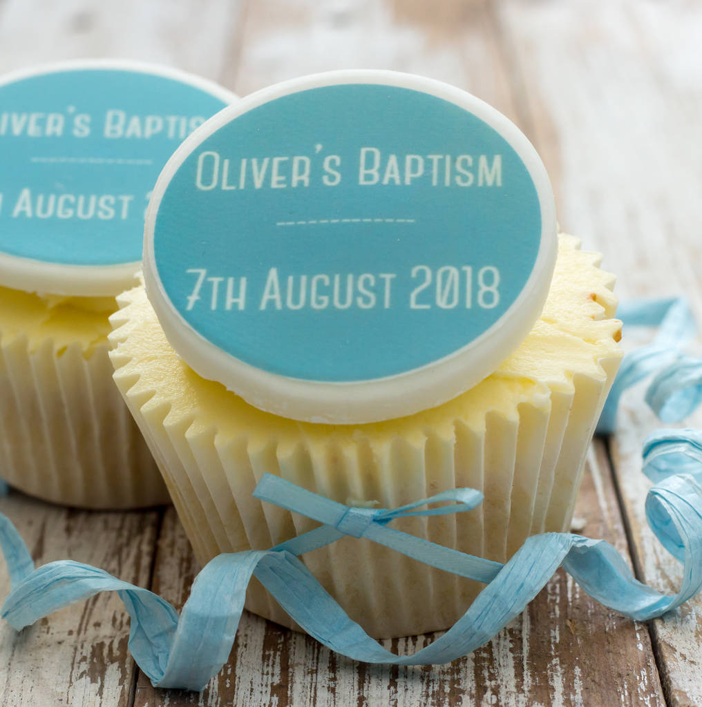 Baptism Cupcake Decorations