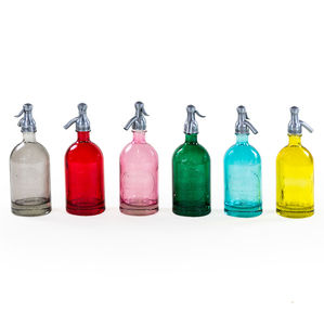 Coloured Glass Soda Stream Seltzer Bottles
