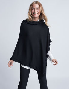 Ruffle Trim Poncho - winter sale