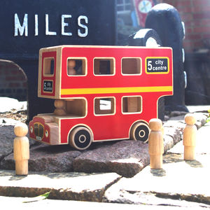 Wooden City Bus Playset - brand new sellers