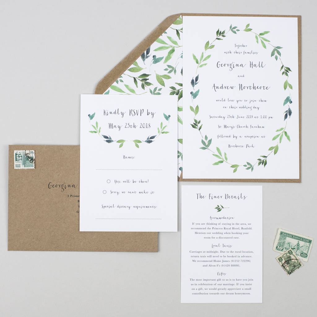Outdoor Wedding Invitation Wording: Botanical Garden Wedding Invitation By Pear Paper Co