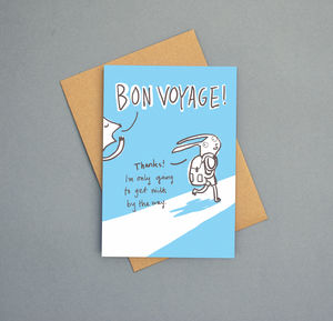 'Bon Voyage Forgot The Milk' Greeting Card