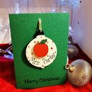 Personalised Christmas Card Wooden Teacher Decoration