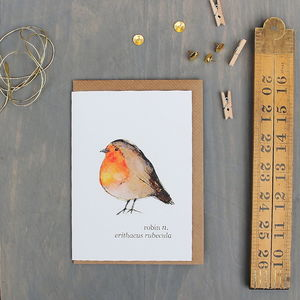 Robin Watercolour Art Greeting Card