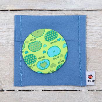 Green Apple Handbag Mirror And Pouch, Teachers Gift