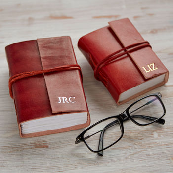 Personalised Handmade Pocket Sized Leather Journals