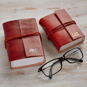 Personalised Handmade Mini And Small Leather Journals