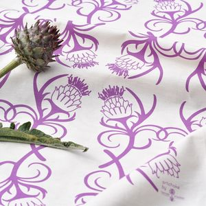 Artichoke Screen Printed Tea Towel - kitchen