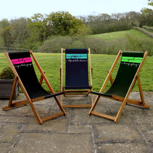 Personalised Banner Deckchair - garden furniture