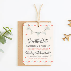 Travel Collection Map Bunting Save The Date