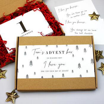 'Reasons Why I Love You' Advent Calendar Gift Box
