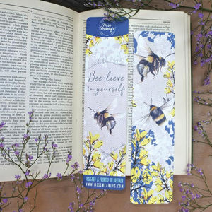 Bumble Bee Tearproof Bookmark