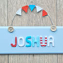 Personalised Wooden Button Door Plaque
