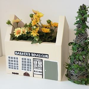 Personalised Bowls Club Plant Holder