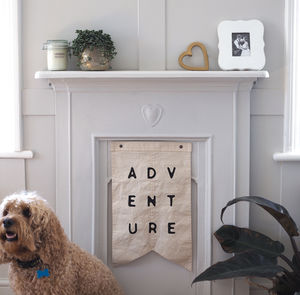 'Adventure' Wall Hanging Cotton Burgee Flag - home accessories