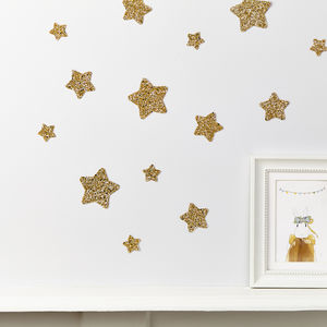 Glitter Star Wall Stickers - wall stickers