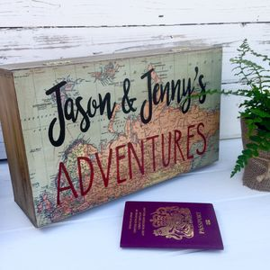 Personalised Map Design Memory Or Keepsake Box - boxes, trunks & crates