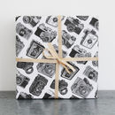 Five Sheets Of Cameras Wrapping Paper