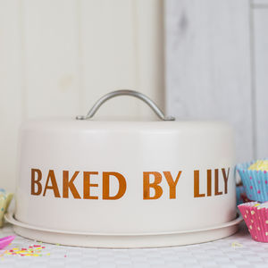 Personalised Dome Cake Tin - kitchen