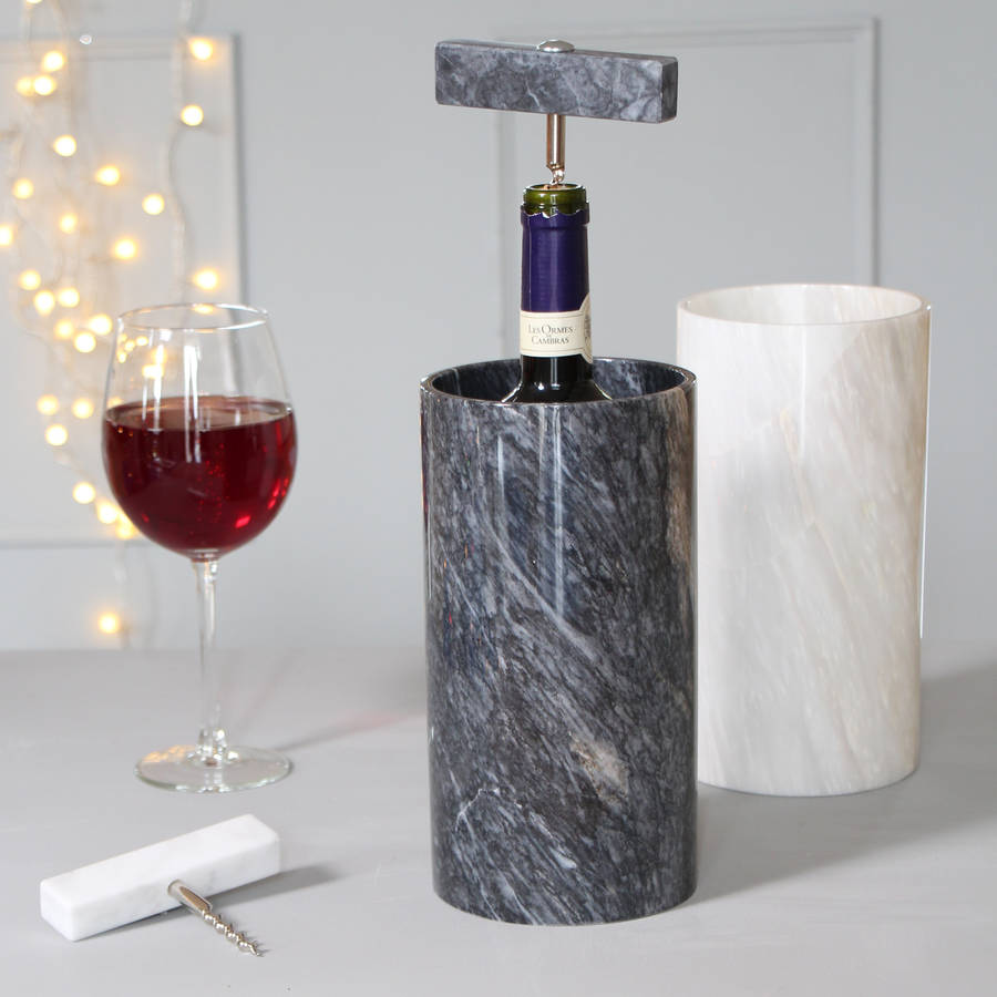 Personalised Marble Wine Cooler By Marbletree