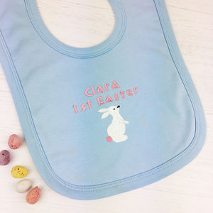 Personalised Embroidered First Easter Bib