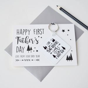 Personalised First Father's Day Card And Keyring - shop by category
