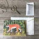 Embroider Me Tiger Greeting Card