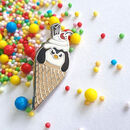 Ice Cream Penguin Enamel Pin