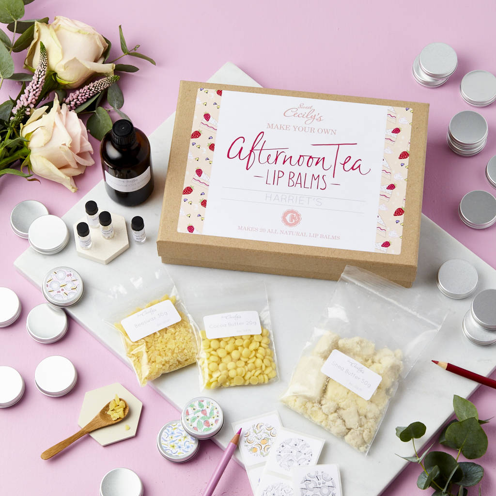 create and colour afternoon tea lip balm making kit by sweet ...