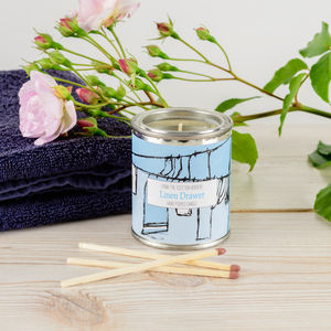 Linen Drawer Fresh And Clean Candle Tin - candles & home fragrance