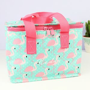 Personalised Flamingo Lunch Bag - new in garden