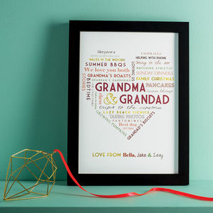 Personalised Grandparent Print - gifts for her