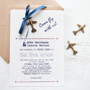 'Fly With Us' DIY Wedding Invitation Pack