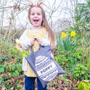 Personalised Decorative Egg Easter Hunt Bag