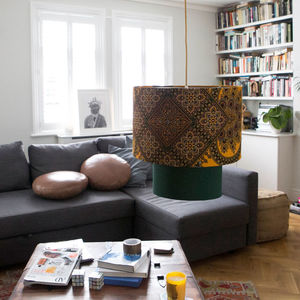 'Kwabena' African Pattern Lampshade - living room