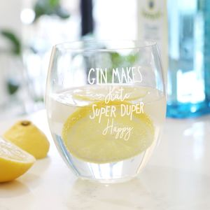 Personalised 'Super Duper Happy' Gin Tumbler - view all new