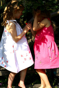 Girls Antique Linen Slip Bow Dress - dresses