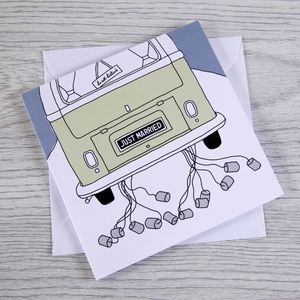 Campervan Wedding Card 'Just Married'