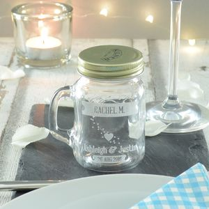 20 Personalised Wedding Place Setting Jars