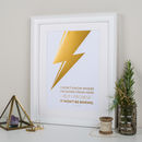 David Bowie Quote Metallic Gold Foil Print
