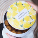 Personalised Lemon Luxury Cake Tin