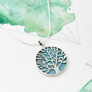 Gemstone Tree Of Life Necklace