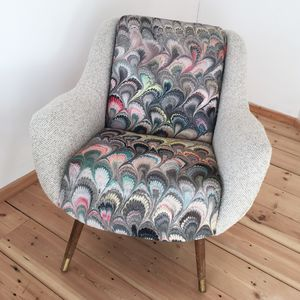 Vintage Danish Marble Tub Chair - furniture