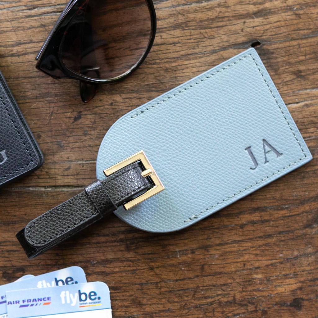 Personalised Luxury Leather Luggage Tag