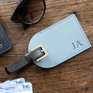 Personalised Luxury Leather Luggage Tag