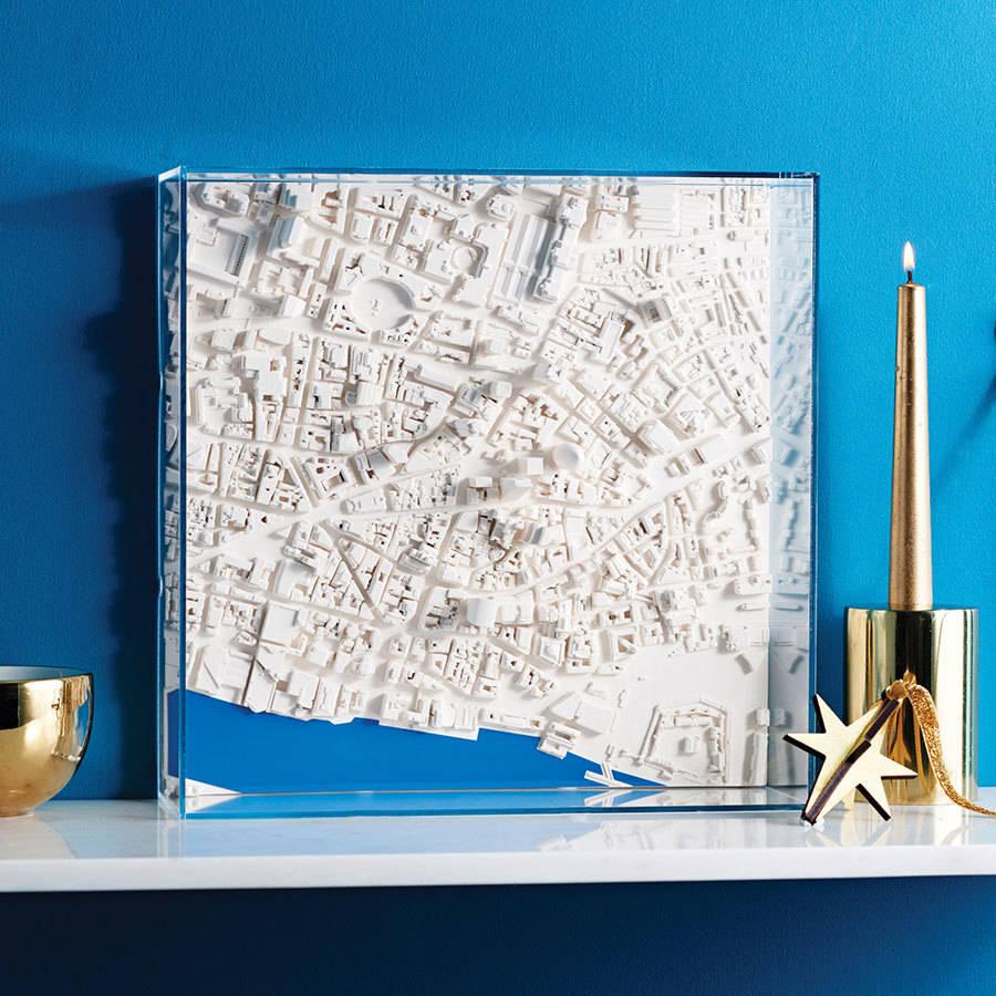 three d london map wall art