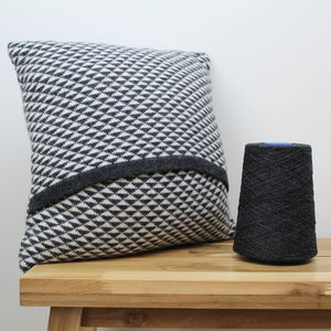 Triangle Knitted Lambswool Cushion